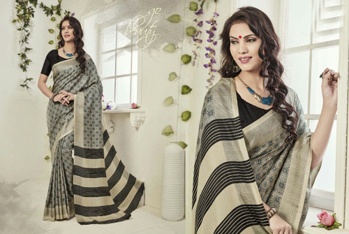 Attractive & Graceful Multi Colored Fancy Art Silk Fabric Premium Saree