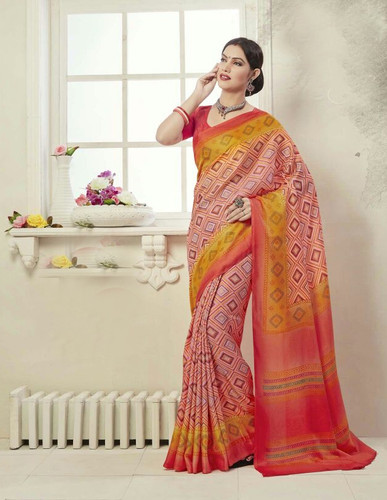 Attractive And Graceful Multi Colored Fancy Art Silk Designer Saree