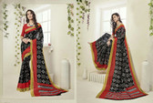 Attractive & Graceful Multicolored Fancy Art Silk Designer Saree