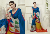 Attractive & Graceful Multicolored Fancy Art Silk Fabric Designer Saree