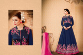 Regally Alluring Blue Colored Georgette Fabric Designer Salwar Suit