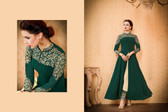 Regally Alluring Green Colored Georgette Fabric Designer Salwar Suit