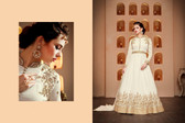 Regally Alluring Off White Colored Georgette Fabric Designer Salwar Suit