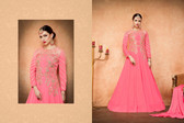 Regally Alluring Pink  Colored Georgette Fabric Designer Salwar Suit