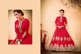 Regally Alluring Red Colored Bhagalpuri Silk Fabric Designer Salwar Suit