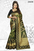 Incredibly Alluring Green Colored Banarasi Silk Saree