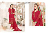Stylish & Vibrant Red Colored Georgette Salwar suit