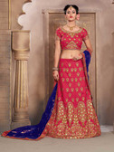 Gorgeous & Vibrant Pink Color Mulberry Silk Designer Lehenga
