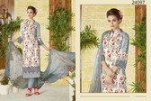 Stylish & Timeless Off White Colored Cotton Lawn Salwar Suit