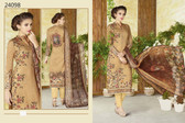 Stylish & Timeless Brown Colored Cotton Lawn Salwar Suit