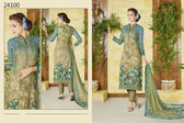 Stylish & Timeless Mustrad Green Colored Cotton Lawn Salwar Suit