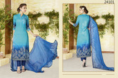 Stylish & Timeless Sky Blue Colored Cotton Lawn Salwar Suit