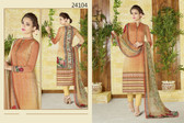 Stylish & Timeless Orange Colored Cotton Lawn Salwar Suit