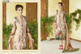 Stylish & Timeless Light Peach Colored Cotton Lawn Salwar Suit