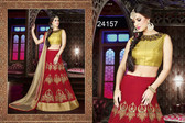 Exquisite & Timeless Red Colored Satin Designer Lehenga