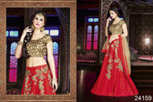 Exquisite & Timeless Red Colored Phantom Silk Premium Lehenga
