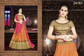 Exquisite & Timeless Orange Colored Silk Lehenga