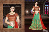 Exquisite & Timeless Teal Green Colored Banarasi Silk Lehenga