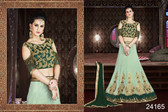 Exquisite & Timeless Light Teal Green Colored Silk Lehenga