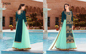 Stylish & Vibrant Teal Color Banglori silk & soft Net Suit