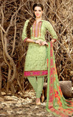 Vibrant & Stylish Light Green Colored Rayon Modal Suit