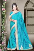 Fashionable & Timeless Firozi Colored Art Silk Saree