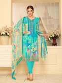 Incredibly Elegant Multi Colored Rayon Modal Designer Suit