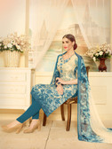 Incredibly Elegant Multi Colored Rayon Modal Pretty Suit