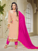 Chic & Classy Light Pink Colored Georgette Suit