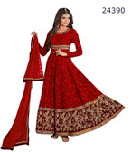Fascinating & Timeless Red Colored Georgette Salwar suit
