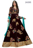 Fascinating & Timeless Dark Brown Colored Pure Georgette Silk  Salwar suit
