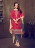 Trendy & Casual Peach Colored Tery Cotton Suit