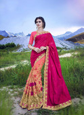Delightfully Alluring Pink & Light Pink Colored Sana Georgette Saree