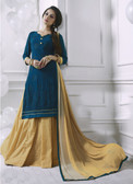 Charming & Attractive Navy Blue Colored Georgette Suit