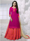 Charming & Attractive Pink Colored Georgette Suit