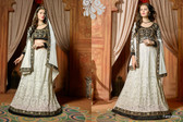 Timeless Elegance Off White & Black Color Net Suit