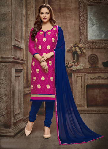 Casual & Trendy Pink Colored Cotton Suit