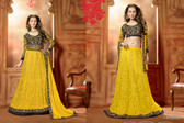 Timeless Elegance Yellow & Black Color Net Suit