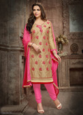 Casual & Trendy Beige Colored Cotton Suit
