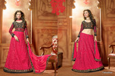 Timeless Elegance Dusty Pink & Black Color Net Suit
