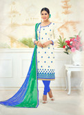 Attractive & Timeless Off White Colored Poly Cotton Suit