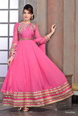 Modern Diva Pink Color Georgette Anrakali Suit