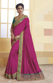 Incredibly Vibrant Deep Purple Colored Silk Saree