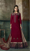Enchanting & Lively Deep Maroon colored Pure Cotton Printed Suit