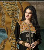 Enchanting & Lively Black colored Pure Cotton Printed Suit