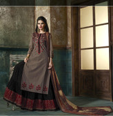 Enchanting & Lively Light Brown colored Pure Cotton Printed Suit