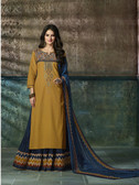 Enchanting & Lively Mehandi colored Pure Cotton Printed Suit