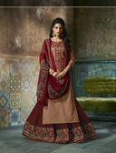 Enchanting & Lively Brown colored Pure Cotton Printed Suit