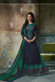 Enchanting & Lively Deep Blue colored Pure Cotton Printed Suit