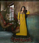 Enchanting & Lively Yellow colored Pure Cotton Printed Suit